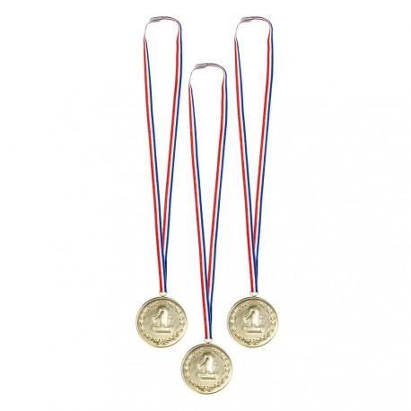 Lot de 3 médailles d'or  Diam. 3 cm