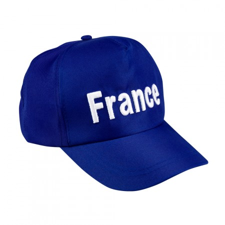 Casquette bleue FRANCE Taille adulte polyester