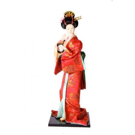 Geisha - plastique et tissu - Différents modèles - H. 30cm