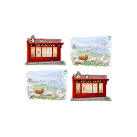 Set de 4 mobiles Irlande  - carton