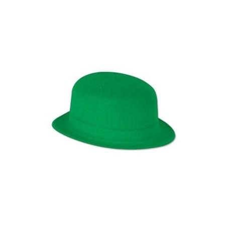 Chapeau melon Vert - PVC et feutrine