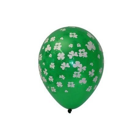 """Pochette de 8 ballons motif """"Trèfle"""" - Diam. 29cm"""