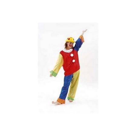 Costume Clown Turlututu - tissu - taille unique