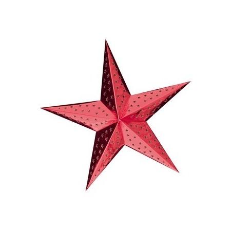 Etoile rouge à suspendre - carton - Diam 60cm