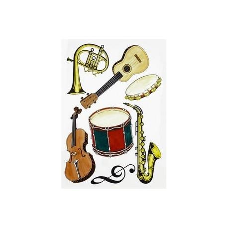 Set de 7 instruments de musique - carton