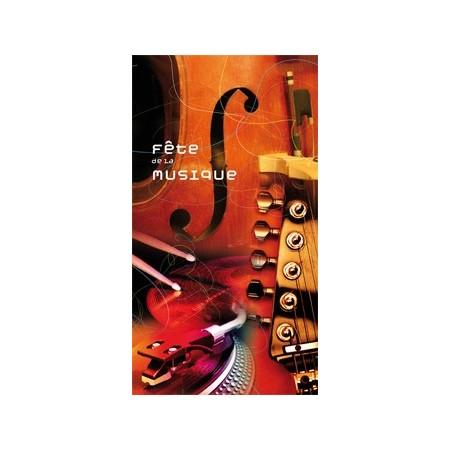 Kakémono Musique - Papier - 55 x 100 cm