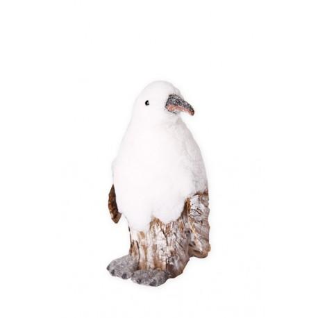 Pingouin tete tournée - 27 x 19 x 31 - bois