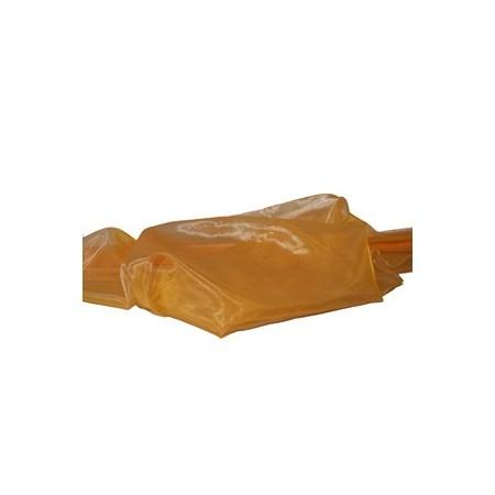 Tissu Organza jaune - Larg. 150cm    (vendu au mètre)