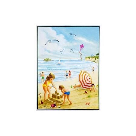 Poster Les enfants à la plage * - 60 x 80cm -