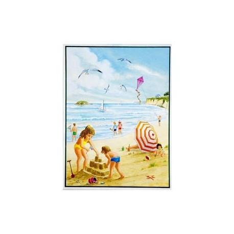"""Poster """"Les enfants à la plage"""" * - 60 x 80cm -"""