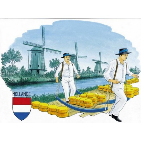"""Set de 4 décors """"Hollande"""" - carton"""