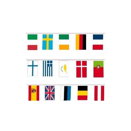 Guirlande Pavillons Europe (27 pays) 10 ml Sur commande